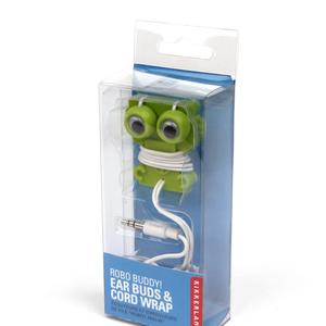 Robo Buddy Ear Buds and Cord Wrap