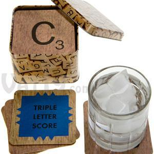 SCRABBLE® Coasters in a Tin